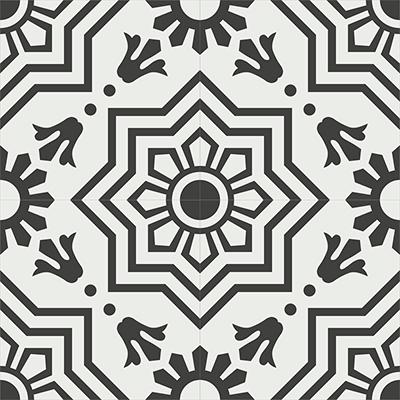 Gạch bông CTS 113.7(4-13) - 4 tiles - Encaustic cement tile CTS 113.7(4-13)-4 tiles