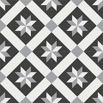 Gạch bông CTS 12.5(4-9-13) - 16 viên - Encaustic cement tile CTS 12.5(4-9-13)-16 tiles