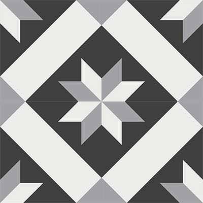 Gạch bông CTS 12.5(4-9-13) - 4 viên - Encaustic cement tile CTS 12.5(4-9-13)-4 tiles