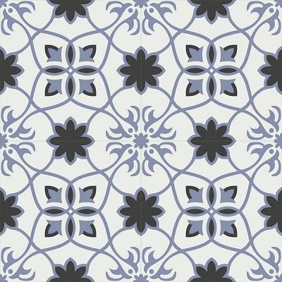 Gạch bông CTS 138.1(4-13-84) - 4 viên - Encaustic cement tile CTS 138.1(4-13-84)-4 tiles