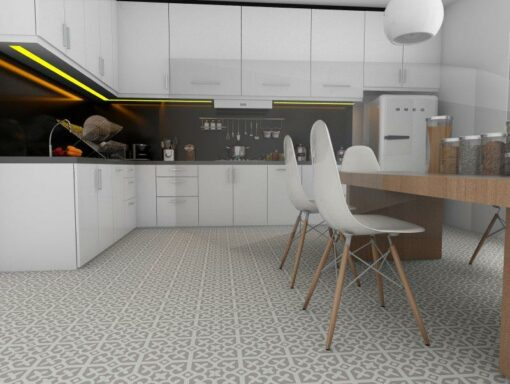 Gạch bông cts 142.1 lát nền nhà bếp