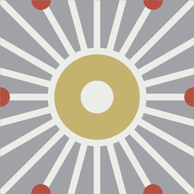 Gạch bông CTS 161.1(4-5-129) - Encaustic cement tile CTS 161.1(4-5-129)