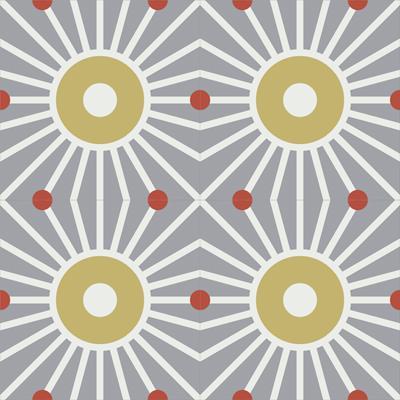 Gạch bông CTS 161.1(4-5-129) - 4 viên - Encaustic cement tile CTS 161.1(4-5-129)-4 tiles