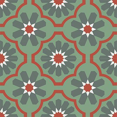 Gạch bông CTS 16.7(3-4-5-7) - 4 viên - Encaustic cement tile CTS 16.7(3-4-5-7)-4 tiles
