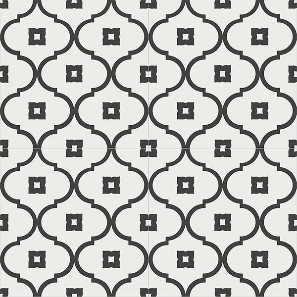 Gạch bông CTS 163.2(4-13) - 4 viên - Encaustic cement tile CTS 163.2(4-13)-4 tiles