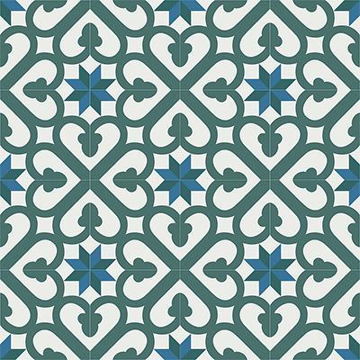 Gạch bông CTS 165.1(4-24-40-47) - 16 viên - Encaustic cement tile CTS 165.1(4-24-40-47)-16 tiles