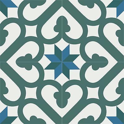Gạch bông CTS 165.1(4-24-40-47) - 4 viên - Encaustic cement tile CTS 165.1(4-24-40-47)-4 tiles