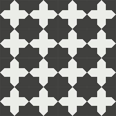 Gạch bông CTS 166.1(4-13) - 16 viên - Encaustic cement tile CTS 166.1(4-13)-16 tiles
