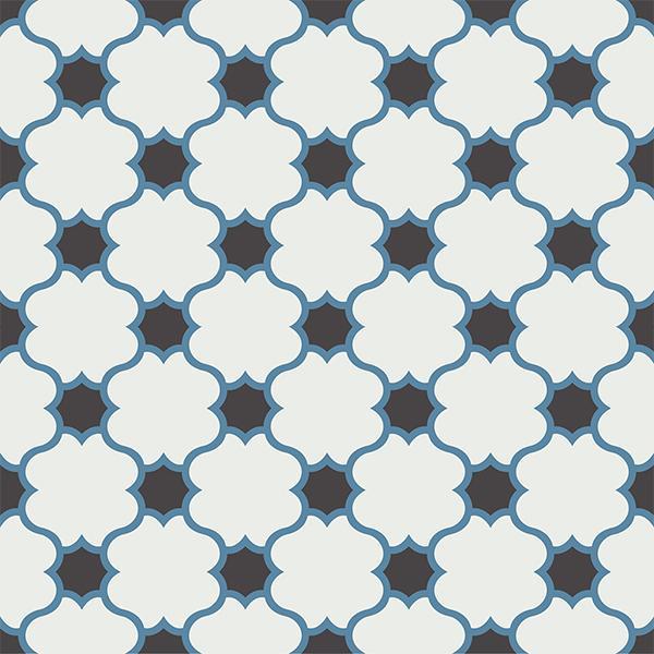 Gạch bông CTS 168.1(4-10-13) - 4 viên - Encaustic cement tile CTS 168.1(4-10-13)-4 tiles