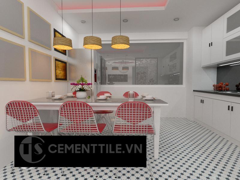 Gạch bông cts 168.1 trang trí nhà bếp