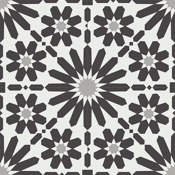 Gạch bông CTS 19.10(4-9-13) - 4 viên - Encaustic cement tile CTS 19.10(4-9-13)-4 tiles