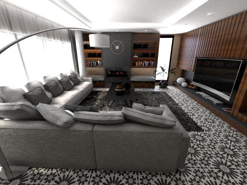 Gạch bông cts 19.10 trang trí phòng khách