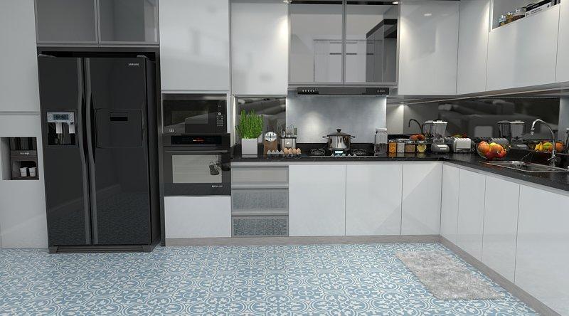 Gạch bông cts 2.18 trang trí nhà bếp