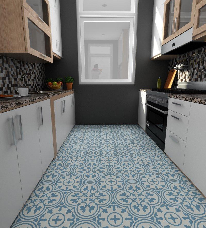 Gạch bông cts 2.19 lát nền nhà bếp