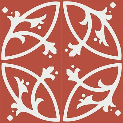 Gạch bông CTS 24.8(4-5) - 4 vên - Encaustic cement tile CTS 24.8(4-5)-4 tiles