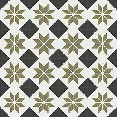 Gạch bông CTS 27.7(4-13-52) - 16 viên - Encaustic cement tile CTS 27.7(4-13-52)-16 tiles