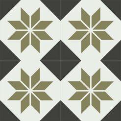 Gạch bông CTS 27.7(4-13-52) - 4 viên - Encaustic cement tile CTS 27.7(4-13-52)-4 tiles