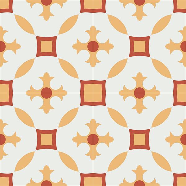 Gạch bông CTS 36.4(4-5-6) - 4 viên - Encaustic cement tile CTS 36.4(4-5-6)-4 tiles