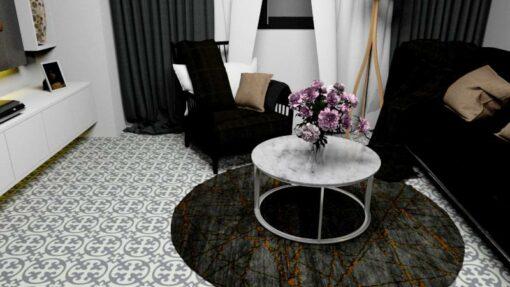 Gạch bông cts 4.7 lát nền phòng khách