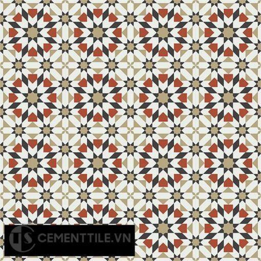 Gạch bông CTS 56.4(4-13-30-55) - 16 viên - Encaustic cement tile CTS 56.4(4-13-30-55)-16 tiles