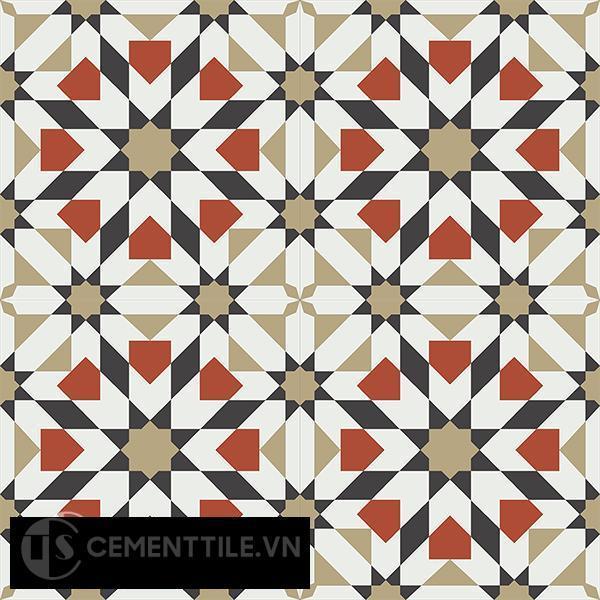 Gạch bông CTS 56.4(4-13-30-55) - 4 viên - Encaustic cement tile CTS 56.4(4-13-30-55)-4 tiles