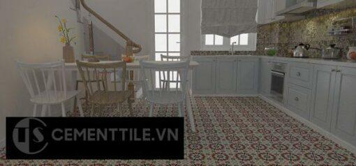 Gạch bông cts 56.4 lát nền nhà bếp