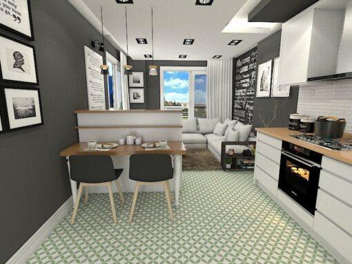 Gạch bông cts 6.15 lát nền nhà bếp