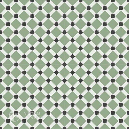 Gạch bông CTS 68.4(4-7-13) - 16 viên - Encaustic cement tile CTS 68.4(4-7-13)-16 tiles