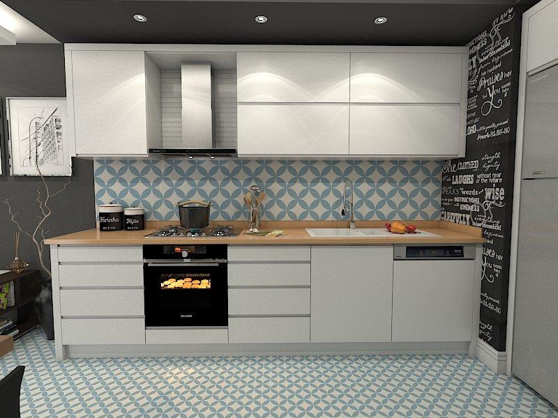 Gạch bông cts 7.11 trang trí nhà bếpa
