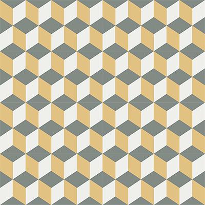 Gạch bông CTS 8.9(3-4-6) - 16 viên - Encaustic cement tile CTS 8.9(3-4-6) - 16 tiles