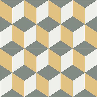 Gạch bông CTS 8.9(3-4-6) - 4 viên - Encaustic cement tile CTS 8.9(3-4-6) - 4 tiles