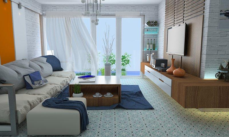 Gạch bông cts 1.39 trang trí phòng khách