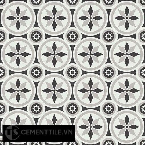 Gạch bông CTS 174.1(4-9-13) - 16 viên - Encaustic cement tile CTS 174.1(4-9-13)-16 tiles