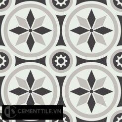 Gạch bông CTS 174.1(4-9-13) - 4 viên - Encaustic cement tile CTS 174.1(4-9-13)-4 tiles