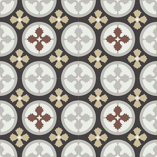 Gạch bông CTS 175.1(4-9-13-60-130) - 4 viên - Encaustic cement tile CTS 175.1(4-9-13-60-130)-4 tiles