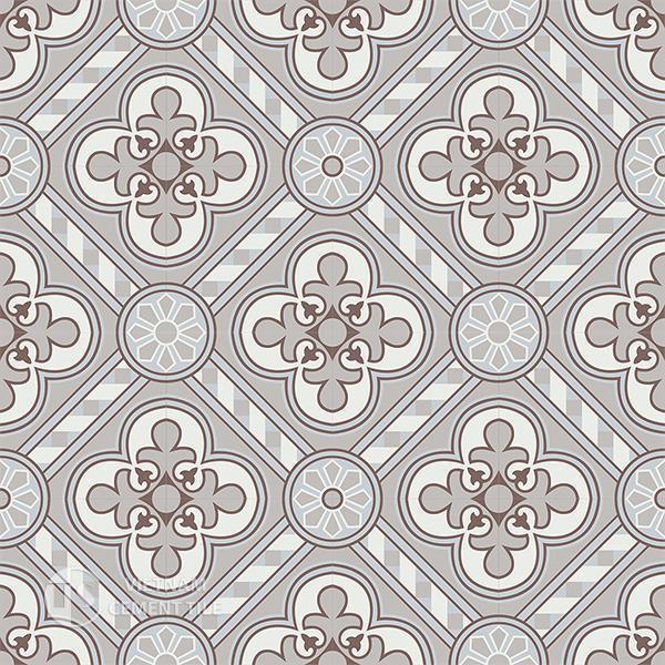 Gạch bông CTS 177.1(4-9-14-50) - 16 viên - Encaustic cement tile CTS 177.1(4-9-14-50)-16 tiles