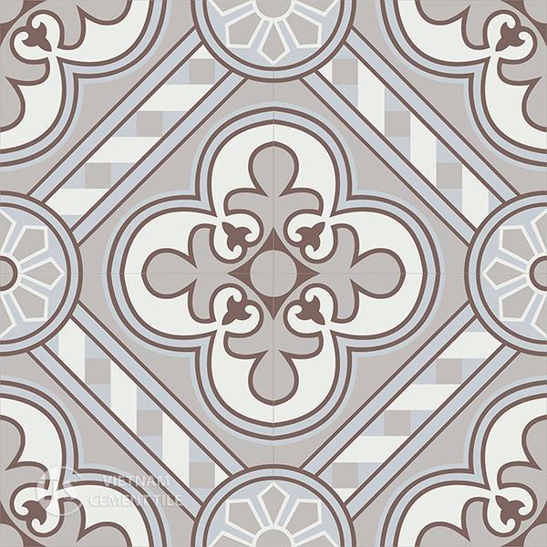 Gạch bông CTS 177.1(4-9-14-50) - 4 viên - Encaustic cement tile CTS 177.1(4-9-14-50)-4 tiles