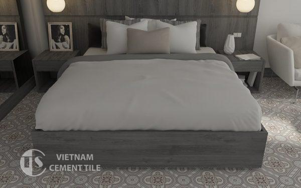 Gạch bông cts 177.1 trang trí phòng ngủ
