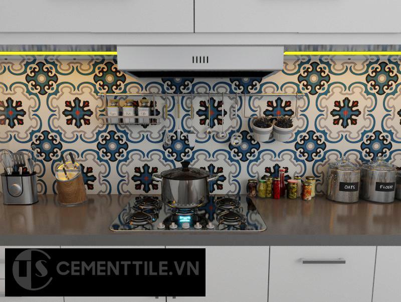 Gạch bông CTS 5.2 trang trí nhà bếp