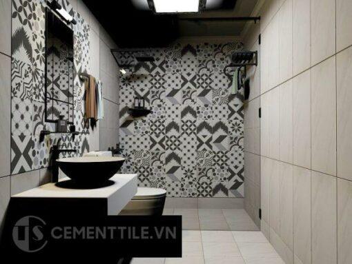 Gạch bông tổng hợp trang trí nhà tắm