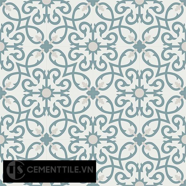 Gạch bông CTS 127.1(4-49-54) - 16 viên - Encaustic cement tile CTS 127.1(4-49-54)-16 tiles