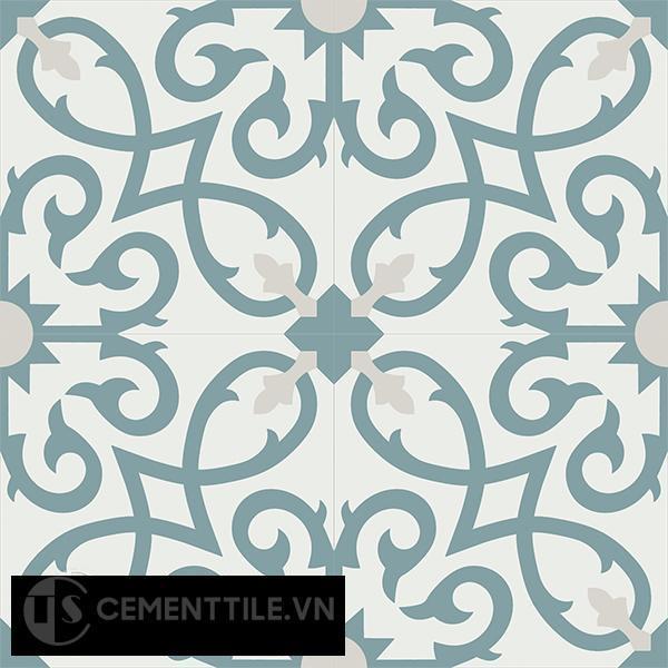Gạch bông CTS 127.1(4-49-54) - 4 viên - Encaustic cement tile CTS 127.1(4-49-54)-4 tiles