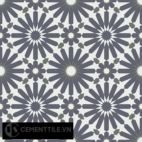 Gạch bông CTS 145.1(3-4-15) - 4 viên - Encaustic cement tile CTS 145.1(3-4-15)-4 tiles