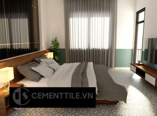 Gạch bông cts 151.1 lát nền phòng ngủ