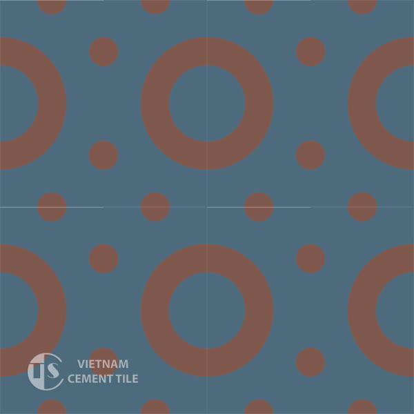 Gạch bông CTS 75.1(1-60) - 16 viên - Encaustic cement tile CTS 75.1(1-60)-16 tiles