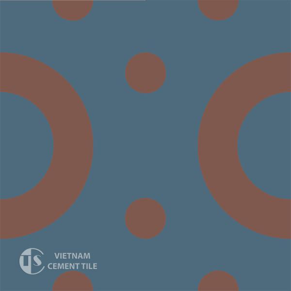 Gạch bông CTS 75.1(1-60) - 4 viên - Encaustic cement tile CTS 75.1(1-60)-4 tiles