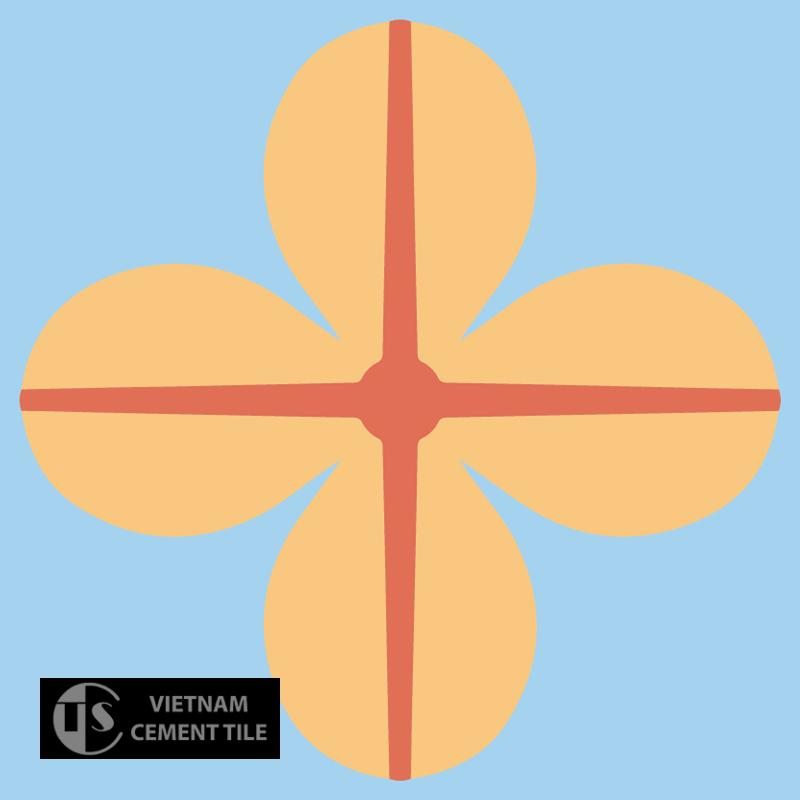 Gạch bông CTS 10.3(5-6-16) - Encaustic cement tile CTS 10.3(5-6-16)