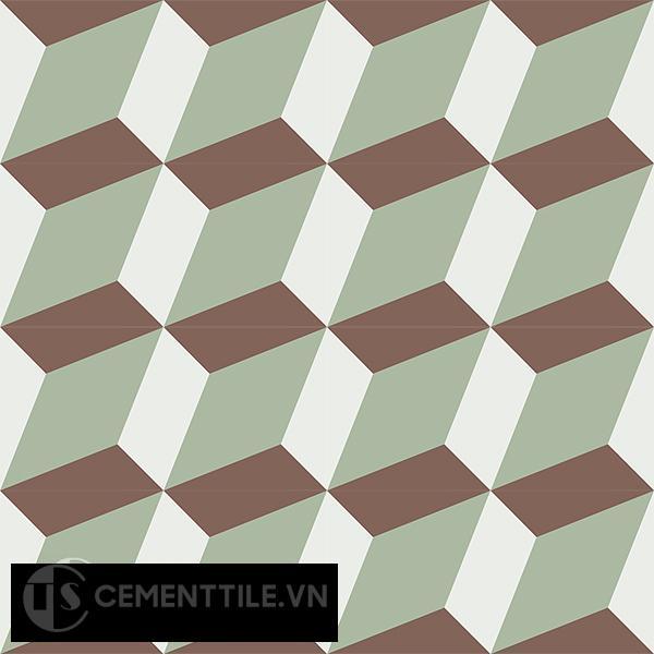 Gạch bông CTS 13.7(4-7-14) - 16 viên - Encaustic cement tile CTS 13.7(4-7-14)-16 tiles