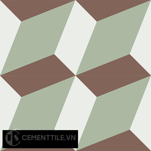Gạch bông CTS 13.7(4-7-14) - 4 viên - Encaustic cement tile CTS 13.7(4-7-14)-4 tiles