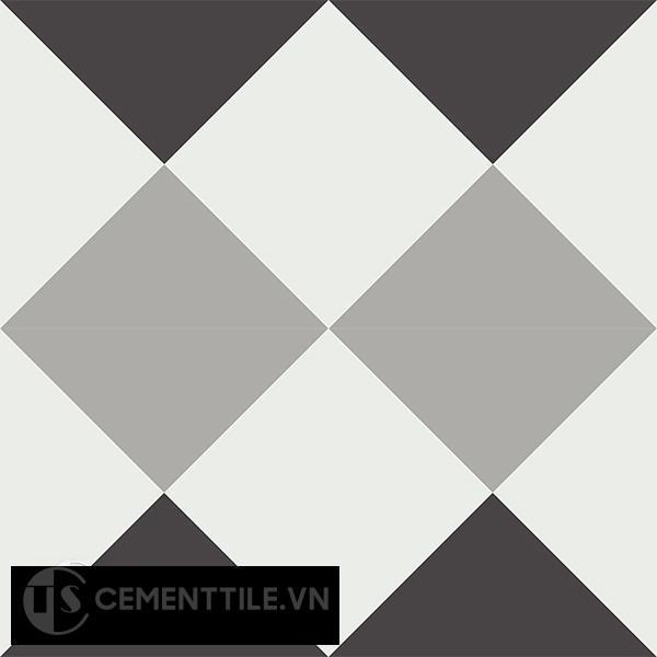 Gạch bông CTS 14.2(4-9-13) - 4 viên - Encaustic cement tile CTS 14.2(4-9-13)-4 tiles